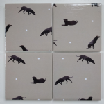4 Ceramic Coasters in Sophie Allport Mini Labrador